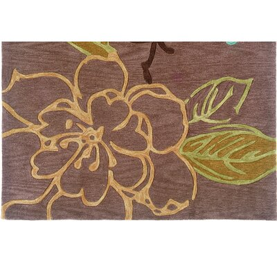 Fugen Hand-Tufted Brown Area Rug Rug Size: 110 x 210