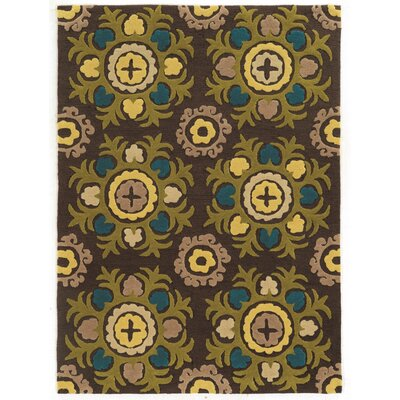 Askins Hand-Tufted Chocolate Area Rug Rug Size: 110 x 210