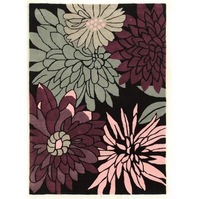 Fugen Hand-Tufted Purple Area Rug Rug Size: 110 x 210