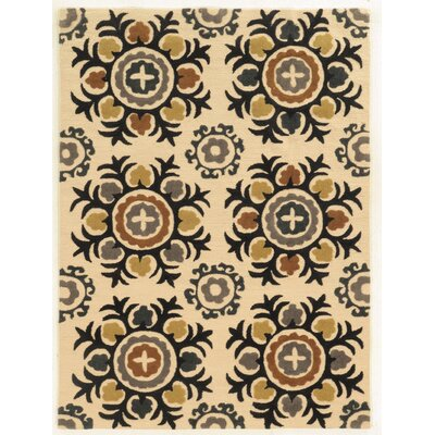 Askins Hand-Tufted Ivory Area Rug Rug Size: Rectangle 110 x 210