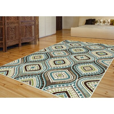 Martello Blue/Beige Area Rug Rug Size: Rectangle 5 x 8