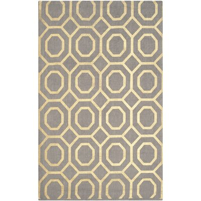 Columbus Circle Hand-Woven Brown/Ivory Area Rug Rug Size: Rectangle 5 x 8
