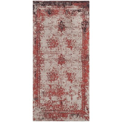 Sartori Classic Vintage Red Area Rug Rug Size: Rectangle 24 x 48