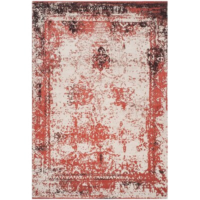 Sartori Classic Vintage Red Area Rug Rug Size: Rectangle 8 x 11