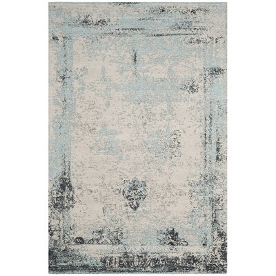 Sarvis Classic Vintage Blue Area Rug Rug Size: Rectangle 4 x 6