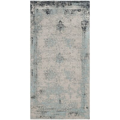 Sarvis Classic Vintage Blue Area Rug Rug Size: Rectangle 67 x 92