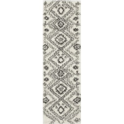 Amall Ivory Area Rug Rug Size: Runner 23 x 76