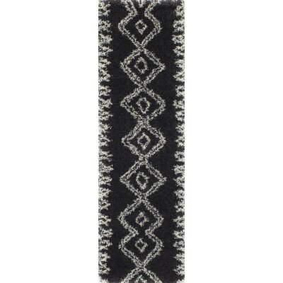 Seabolt Black Area Rug Rug Size: Rectangle 53 x 76