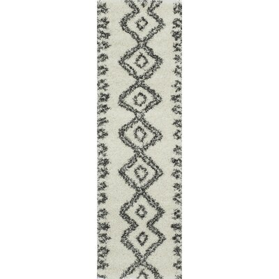 Seabolt Ivory/Black Area Rug Rug Size: Rectangle 93 x 126