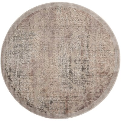 Simms Gray Area Rug Rug Size: Round 79