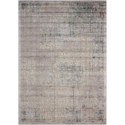 Simms Gray Area Rug Rug Size: Rectangle 36 x 56