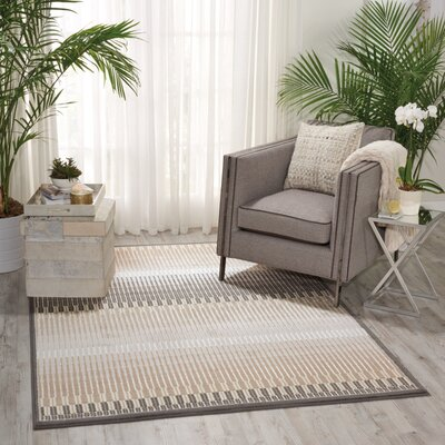 Simoes Beige Area Rug Rug Size: Rectangle 311 x 53