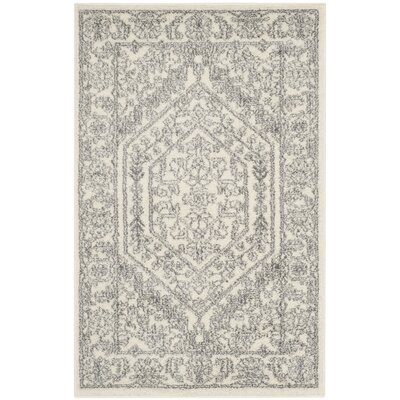 Sirena Ivory/Silver Area Rug Rug Size: Runner 26 x 4