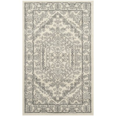 Sirena Ivory/Silver Area Rug Rug Size: 3 x 5