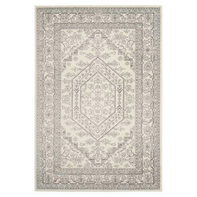 Sirena Ivory/Silver Area Rug Rug Size: Runner 26 x 16