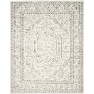 Sirena Ivory/Silver Area Rug Rug Size: 10 x 14