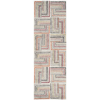Sirmans Ivory/Grey Area Rug Rug Size: Runner 24 x 67