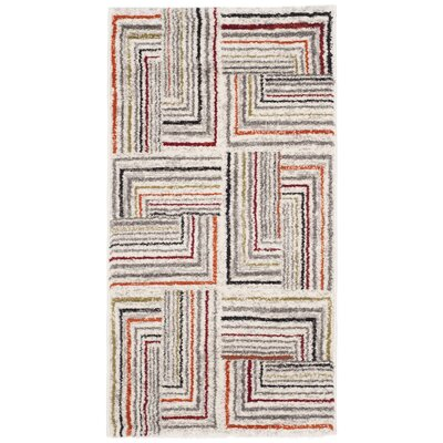 Sirmans Ivory/Grey Area Rug Rug Size: 2 x 37