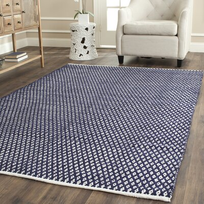 Ash Navy Area Rug Rug Size: Rectangle 6 x 9
