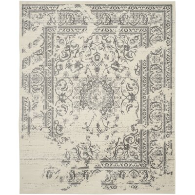 Sisemore Ivory/Silver Area Rug Rug Size: 3 x 5