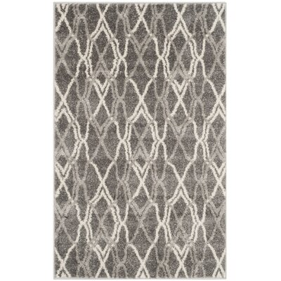 Seager Grey/Light Grey Outdoor Area Rug Rug Size: 26 x 4