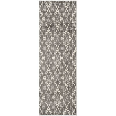 Ajax Grey/Light Grey Outdoor Area Rug Rug Size: Runner 23 x 11