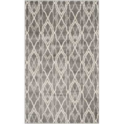 Seager Grey/Light Grey Outdoor Area Rug Rug Size: 3 x 5