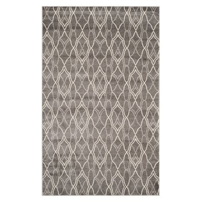 Ajax Grey/Light Grey Outdoor Area Rug Rug Size: 4 x 6