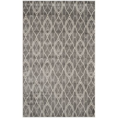 Seager Grey/Light Grey Outdoor Area Rug Rug Size: 5 x 8
