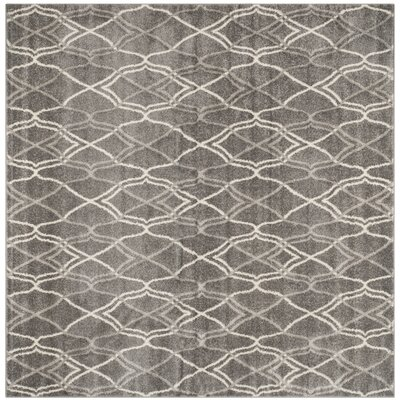 Ajax Grey/Light Grey Outdoor Area Rug Rug Size: Square 7