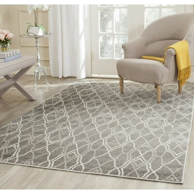 Ajax Grey/Light Grey Outdoor Area Rug Rug Size: Rectangle 8 x 10