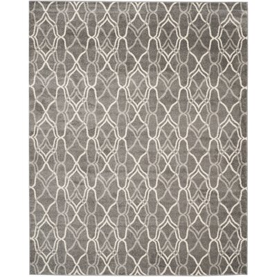 Ajax Grey/Light Grey Outdoor Area Rug Rug Size: 8 x 10