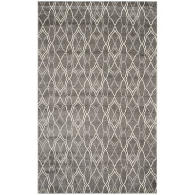 Ajax Grey/Light Grey Outdoor Area Rug Rug Size: 6 x 9