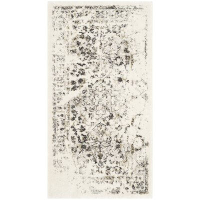 Skidmore Ivory/Light Grey Contemporary Area Rug Rug Size: Rectangle 53 x 77