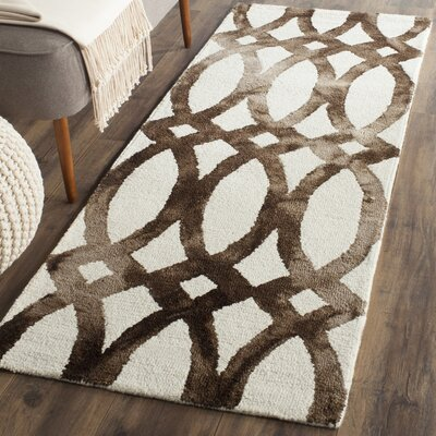 Skiles Ivory/Cacao Area Rug Rug Size: Runner 23 x 8