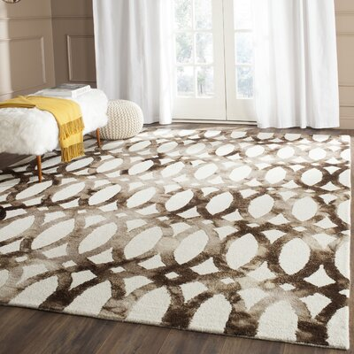 Edie Ivory/Cacao Area Rug Rug Size: Rectangle 4 x 6