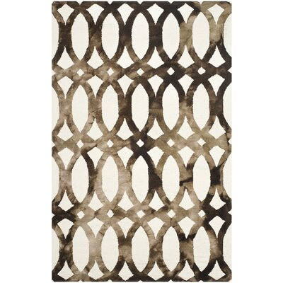 Edie Ivory/Cacao Area Rug Rug Size: 4 x 6