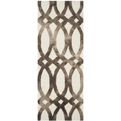 Edie Ivory/Cacao Area Rug Rug Size: Runner 23 x 6