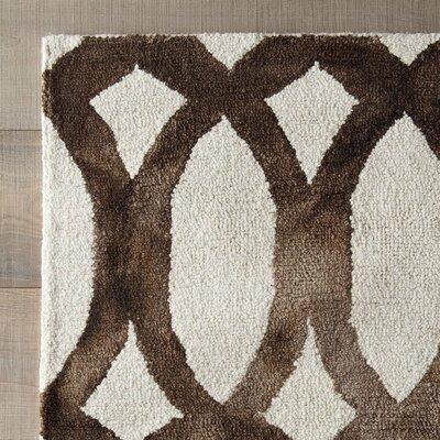 Skiles Ivory/Cacao Area Rug Rug Size: 5 x 8
