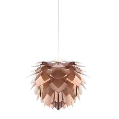 Skipper 1-Light Mini Pendant Cord / Cable Finish: Black, Finish: Copper, Size: 10.6 H x 13.4 W x 13.4 D