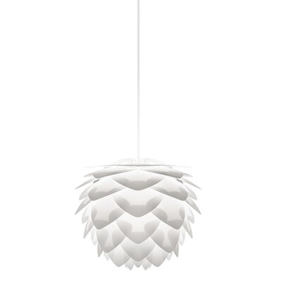 Mallett 1-Light Mini Pendant Cord / Cable Finish: White, Finish: White, Size: 10.6 H x 13.4 W x 13.4 D