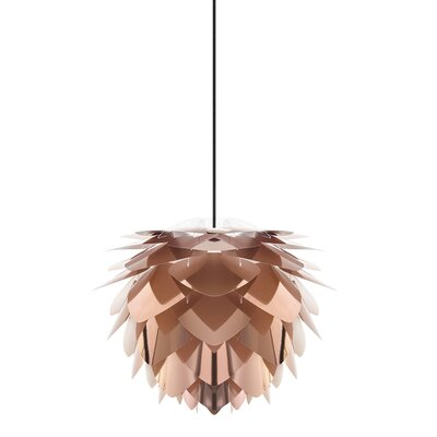 Skipper 1-Light Mini Pendant Size: 17.7 H x 17.7 W x 17.7 D, Cord / Cable Finish: Black, Finish: Copper