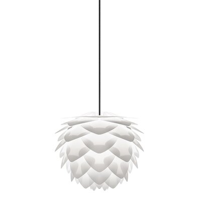 Skipper 1-Light Mini Pendant Cord / Cable Finish: Black, Size: 10.6 H x 13.4 W x 13.4 D, Finish: White