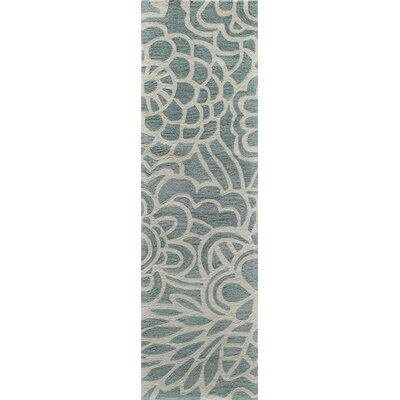Rhea Hand-Tufted�Blue Area Rug Rug Size: Runner 23 x 8