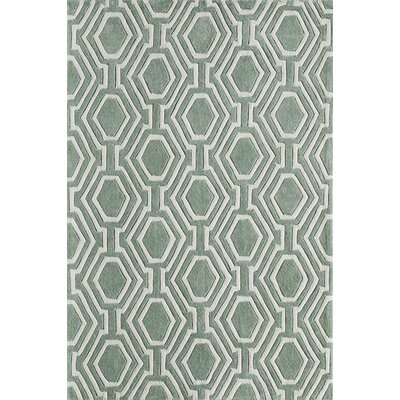 Wills Hand-Tufted Sage Area Rug Rug Size: 36 x 56
