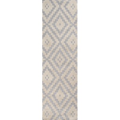 Richie Hand-Tufted�Steel Area Rug Rug Size: Runner 23 x 8