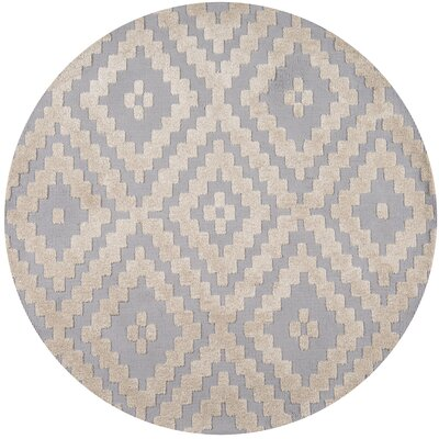 Richie Hand-Tufted�Steel Area Rug Rug Size: Round 4