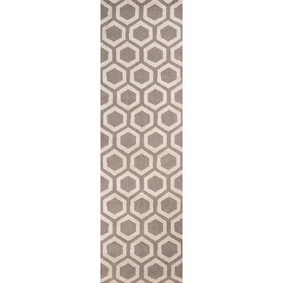 Richie Hand-Tufted Taupe Area Rug Rug Size: Runner 23 x 8