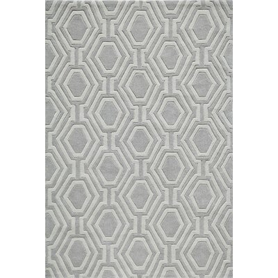 Wills Hand-Tufted Gray Area Rug Rug Size: Rectangle 36 x 56