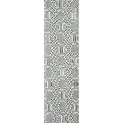 Wills Hand-Tufted Gray Area Rug Rug Size: Runner 23 x 8